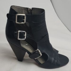 Vince Camuto black leather heels, sz 8.5